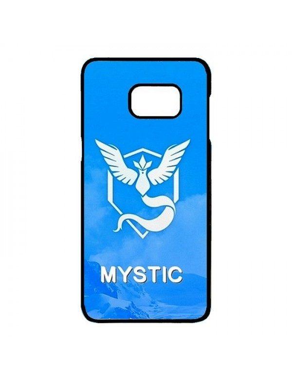 Coque rigide Samsung Galaxy S7 Edge - Pokemon go team mystic sagesse bleu - Contour noir