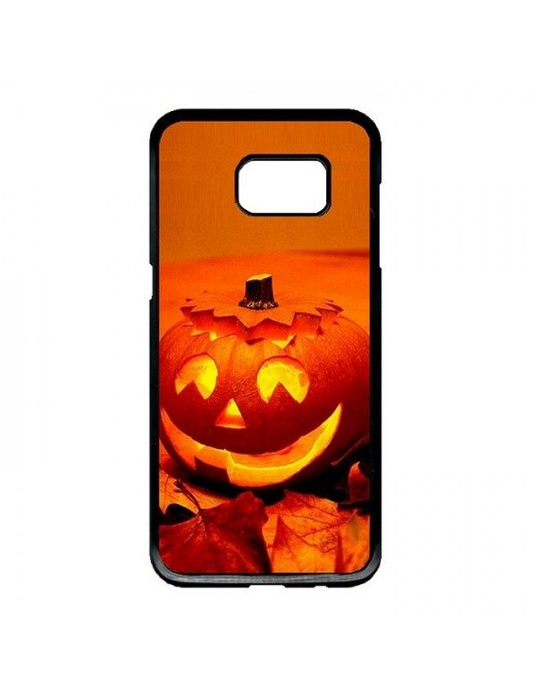 Coque rigide Samsung Galaxy S7 Edge - Halloween citrouille orange
