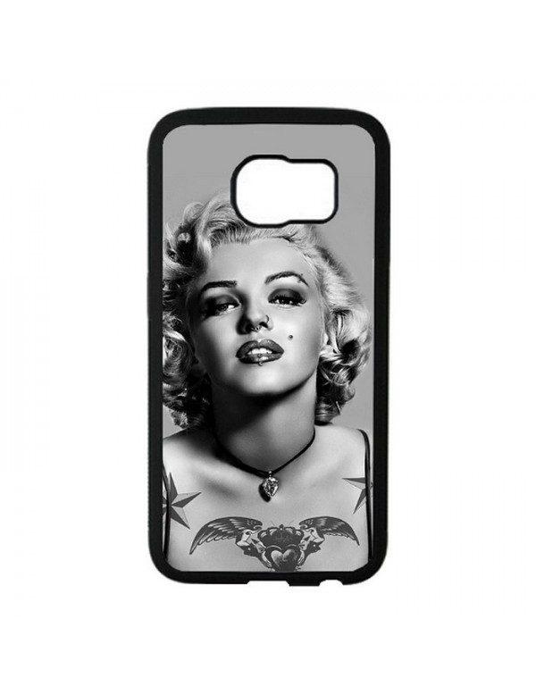 Coque rigide Samsung Galaxy S6 Edge - Marilyn Monroe Noir et blanc