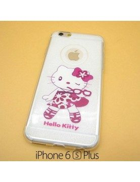 iPhone 6 plus/6S plus - Coque silicone Hello Kitty Fashion