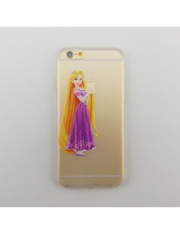 Coque rigide translucide iPhone 6 plus/6S plus Princesse Raiponce