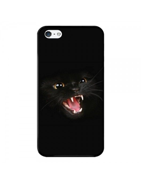 Coque rigide iPhone 4/4S - Chat noir terrifiant