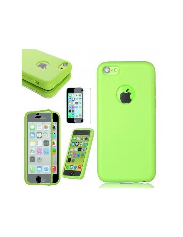 COQUE ETUI HOUSSE Flip Cover Silicone Gel iPhone 6Plus /6S Plus 5.5in - Vert
