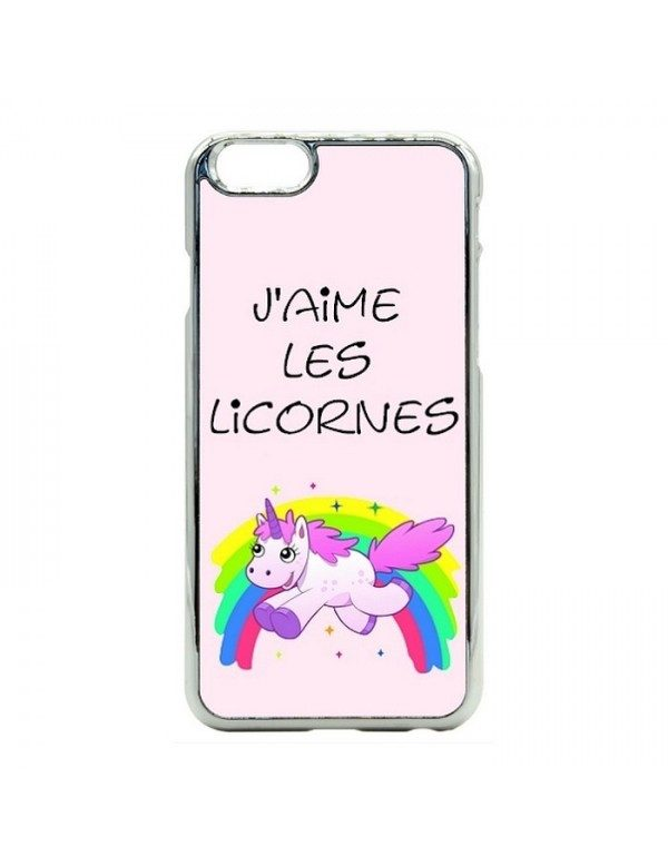 Coque rigide iPhone 6/6S - Licorne arc en ciel