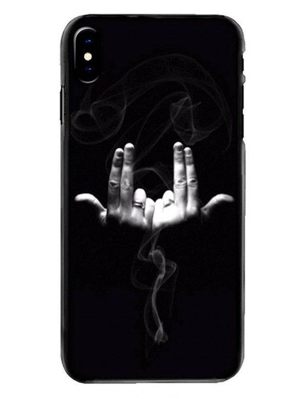 Coque souple iPhone XS MAX - Geste rappeur Jul
