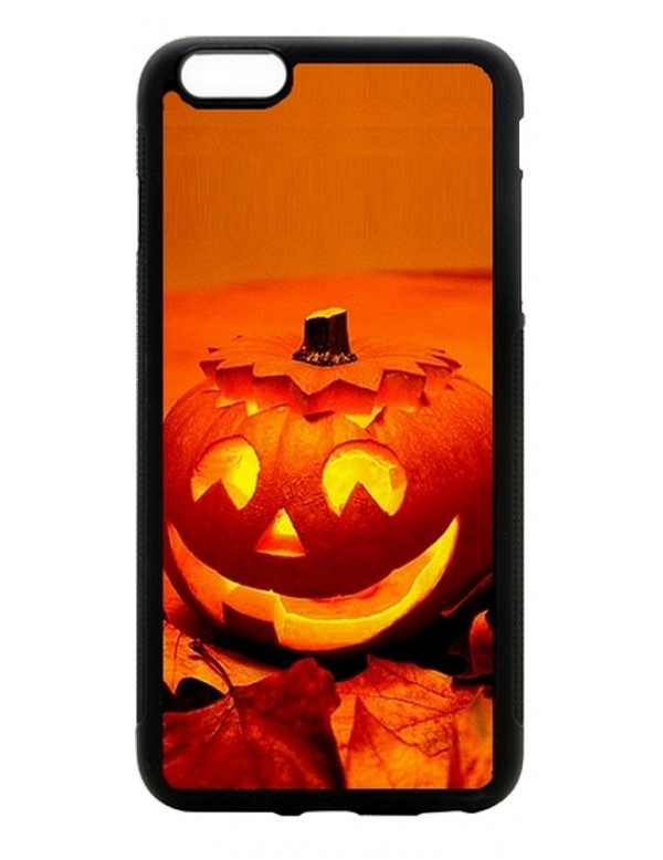 Coque souple iPhone 6/6S -Halloween citrouille orange
