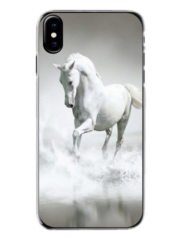 Coque de protection pour iPhone - Cheval blanc