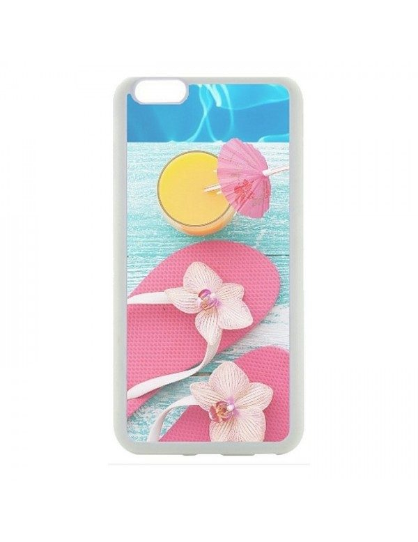 Coque rigide pour  iPhone 5/5S Tongs cocktail plage