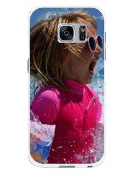 Samsung Galaxy S6 Edge - Coque personnalisable - Rigide Blanc