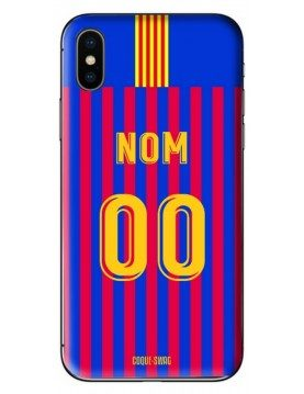 COQUE MAILLOT FOOT - BARCELONE DOMICILE 2018/2019 - PERSONNALISABLE