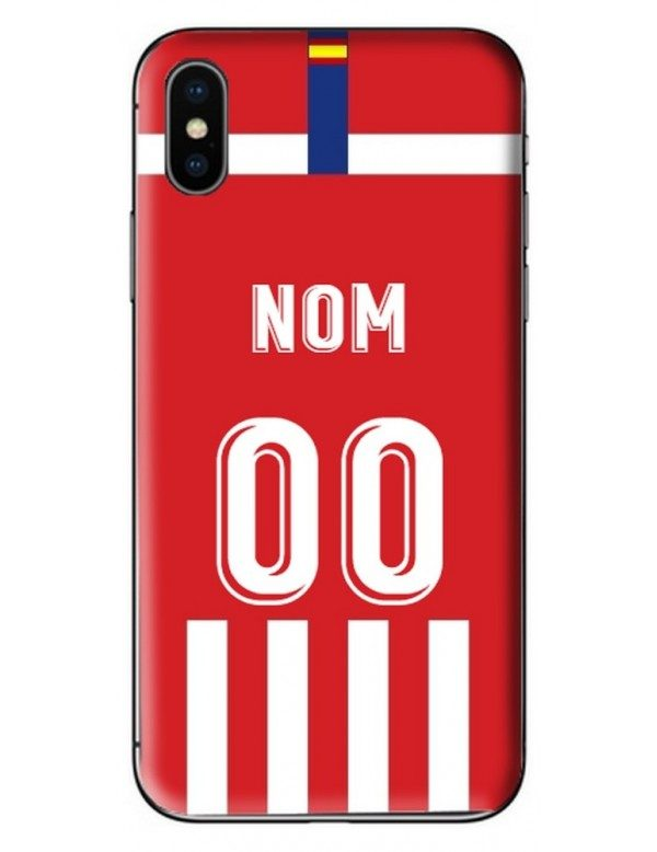 COQUE MAILLOT FOOT - ATLETICO MADRID DOMICILE 2019/2020 - PERSONNALISABLE
