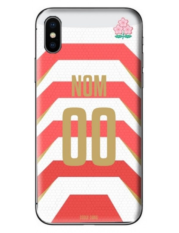 COQUE MAILLOT RUGBY - JAPON DOMICILE 2019 - PERSONNALISABLE