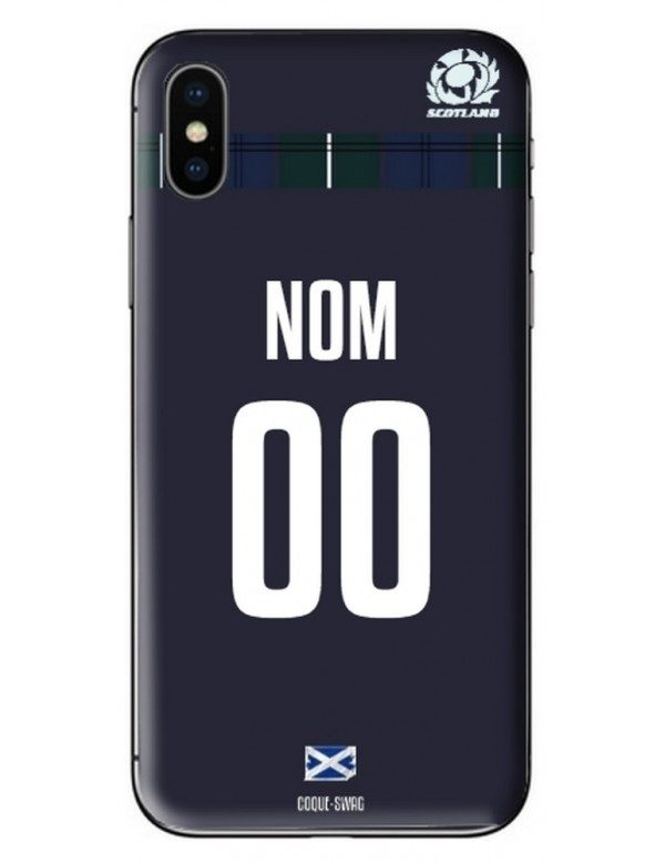 COQUE MAILLOT RUGBY - ECOSSE DOMICILE 2019 - PERSONNALISABLE