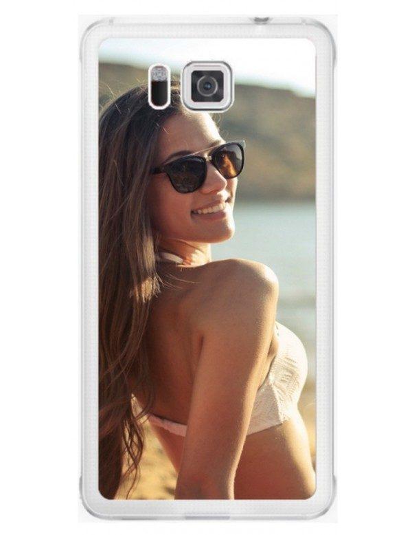 Samsung Galaxy Alpha - Coque personnalisable - Rigide Transparent