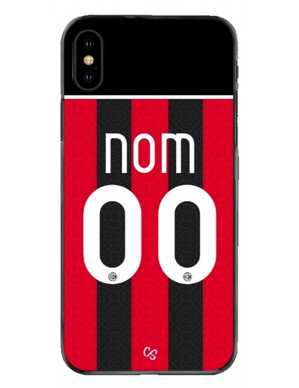 COQUE MAILLOT FOOT - AC MILAN DOMICILE 2020/2021 - PERSONNALISABLE