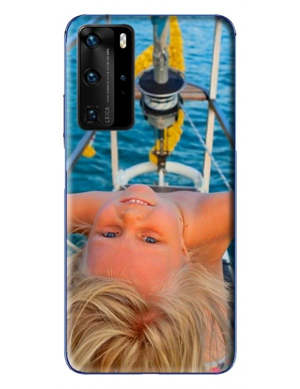 Coque Huawei P40 PRO  à Personnaliser- Contour Souple Noir