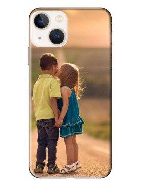 Coque personnalisable pour iPhone 13 - Contour Souple Noir