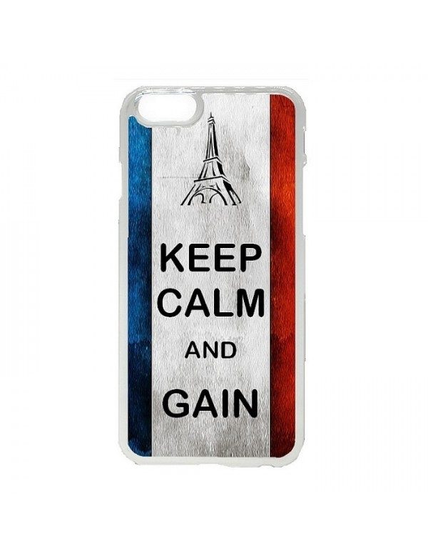 Coque rigide iPhone 4/4S - France Keep Calm and Gain