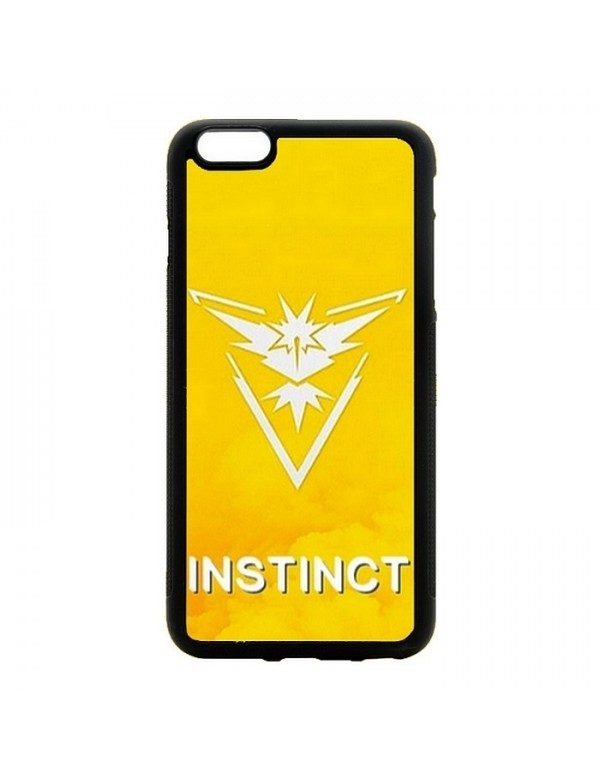 Coque rigide iPhone 4/4S - Pokemon go team instinct jaune